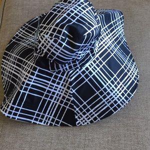 NWT San Diego hat co black white check reversible